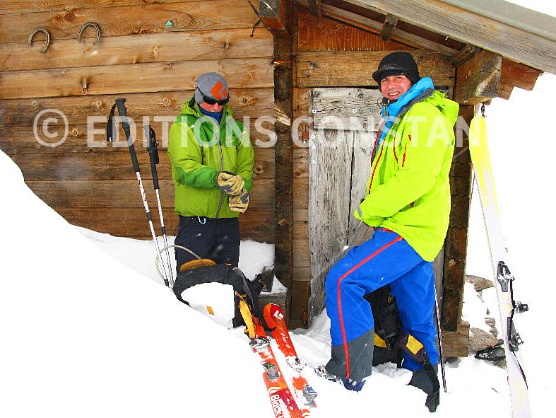ski de rando au Pont de l'Alpe