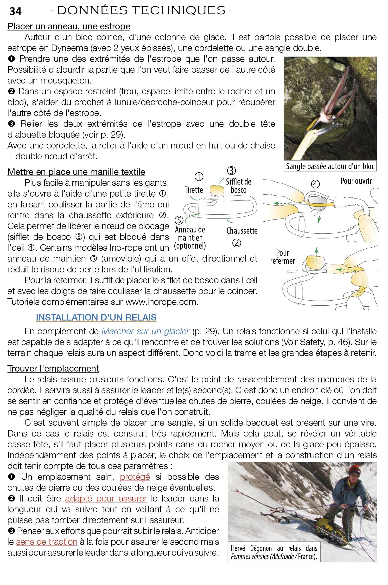 Mountain Essentials - manuel pedagogique techniques alpinisme - technique securite cascade de glace goulotte couloir mixte arete