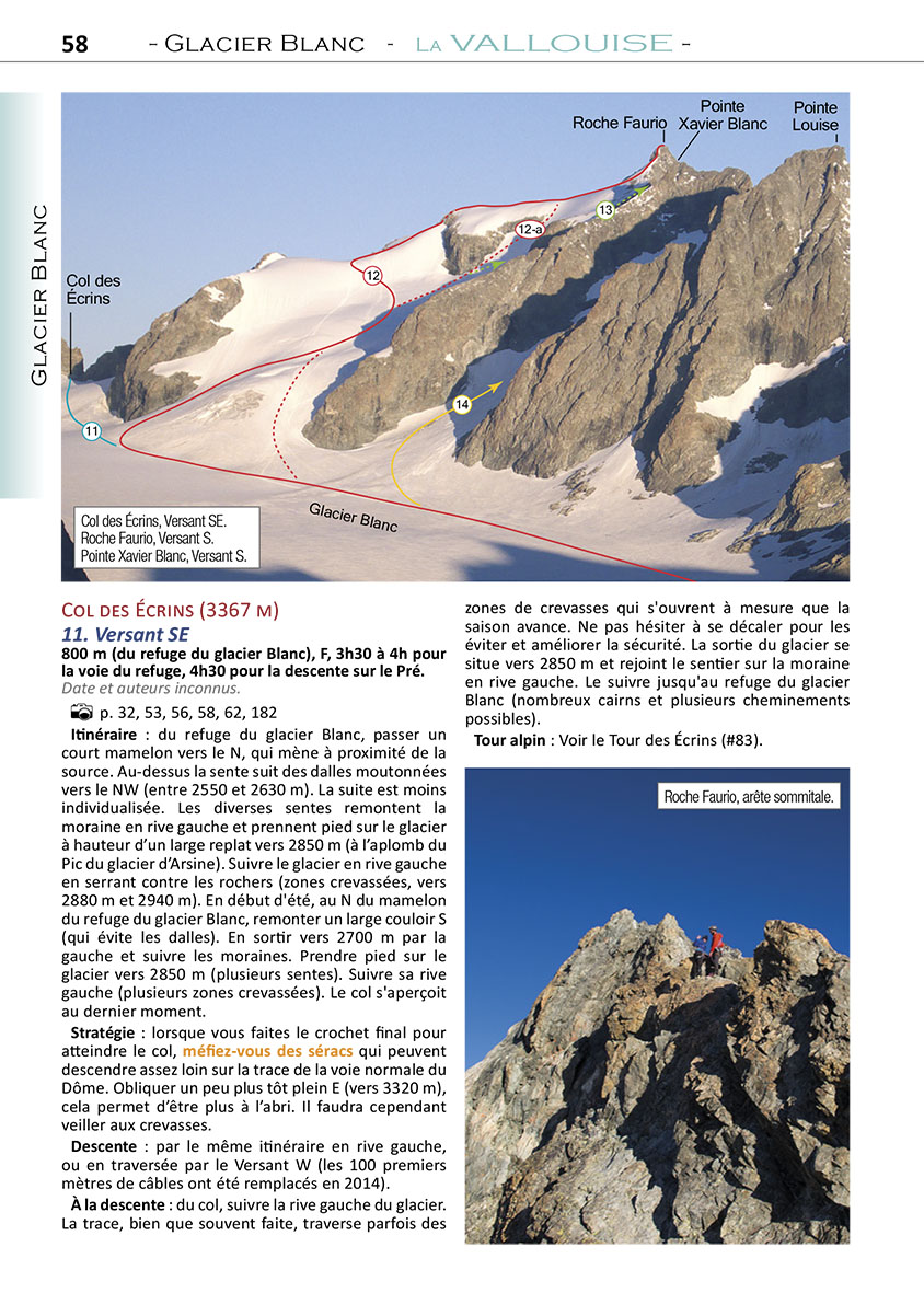 voies normales et classiques des ecrins : livre de montagne technique topoguide alpinisme facile randonnee glaciaire - paiement securisee Carte  Bleue ou PAYPAL