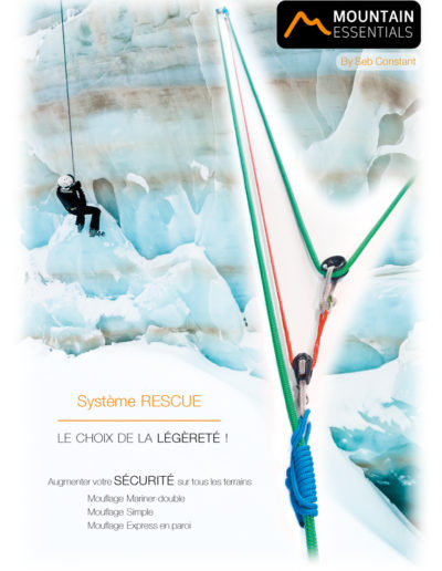 mountain essentials - systeme rescue - secours en montagne mouflage mariner double 02