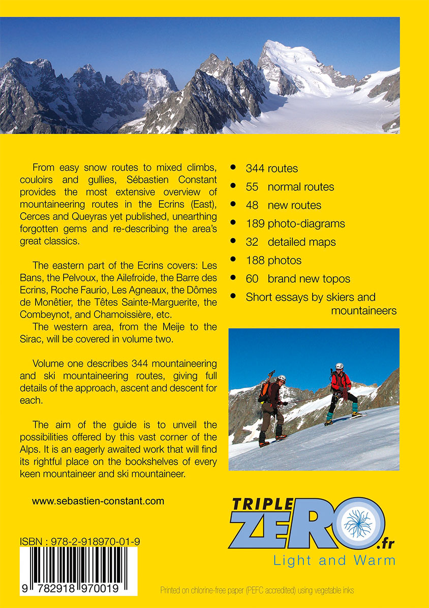 snow and mixed climbs ecrins cerces queyras volume 1 guidebook dauphine